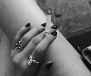 accessories, cigarette, and girl image