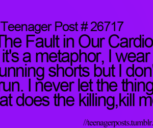 funny, the fault in our stars, and tfios image