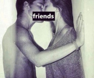 friends, kiss, and girl image