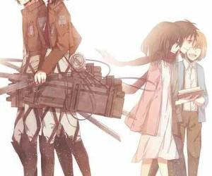 battle, armin, and bestfriends image