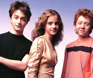daniel radcliffe, emma watson, and forever image