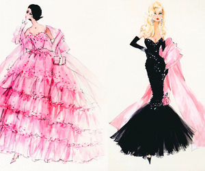 black, croquis, and dresses image