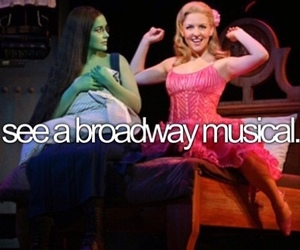 broadway, musical, and bucket list image