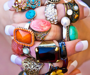 rings, ring, and nails image