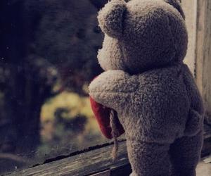 bear, teddy, and sad image