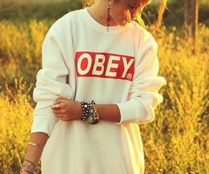 fashion, obey, and ootd image