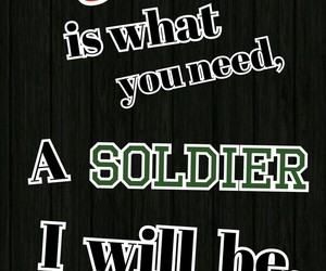 Lyrics, need, and soldier image