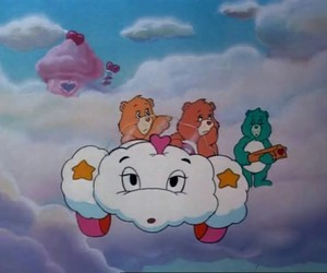 care bears, cotton candy, and star image