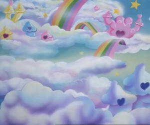 care bears and clouds image