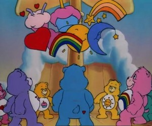 cake, care bears, and cartoon image