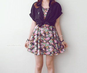 fashion, floral, and girl image