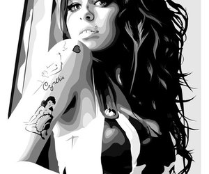 Amy Winehouse, amy, and tattoo image