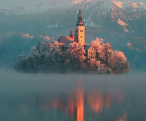 nature, castle, and slovenia image
