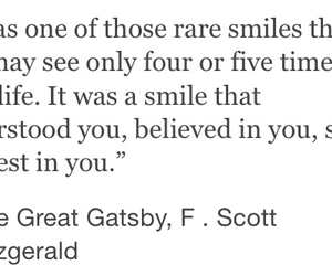 quote, smile, and the great gatsby image