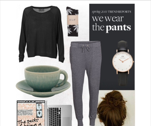 lazy day, outfit, and sleep image