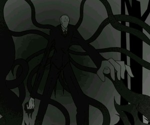 man, scary, and slender image