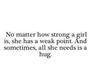 girl, hug, and quotes image