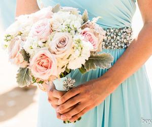 flowers, diamonds, and dress image
