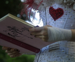 Emilie Autumn, book, and corset image