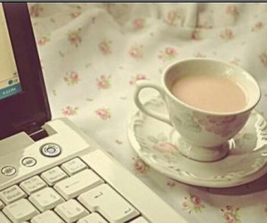 coffee, pc, and relax image