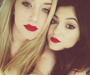 girl, kylie jenner, and friends image
