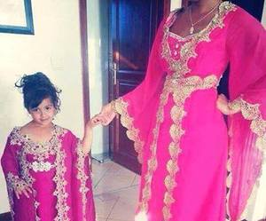 pink, arab, and dress image