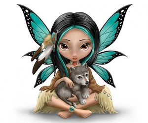 fairy, lovely, and wings image