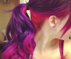 colored hair, girl, and pretty image