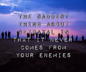 friendships, quote, and sad image