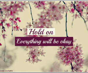 quote, flowers, and okay image