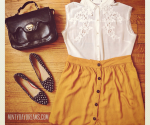 lace, mustard, and scalloped image