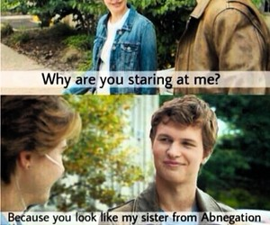 divergent, tfios, and funny image