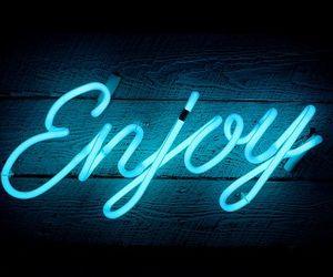 enjoy, light, and blue image