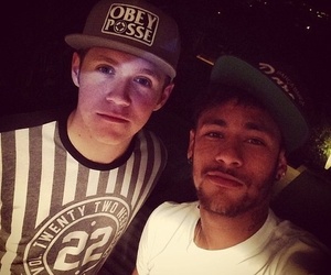 niall horan, neymar, and one direction image