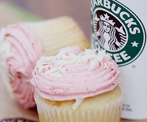 starbucks, cupcake, and pink image