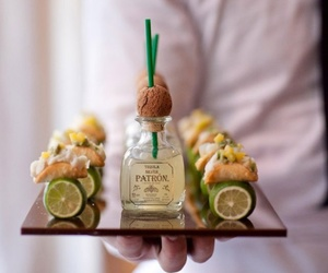 patron, food, and tequila image