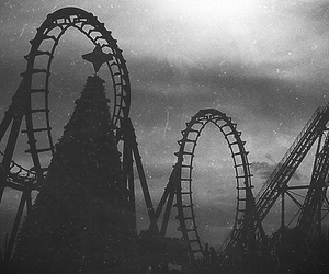 photography, vintage, and rollercoaster image