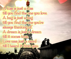 couple, eiffel tower, and kiss image