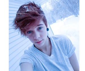 boy, snow, and emo image