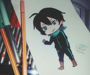 bookmark, noragami, and chibi image