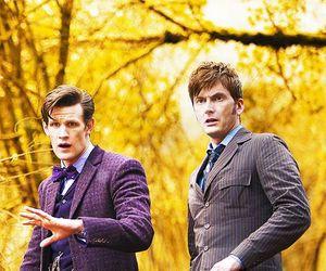 david tennant, doctor who, and matt smith image