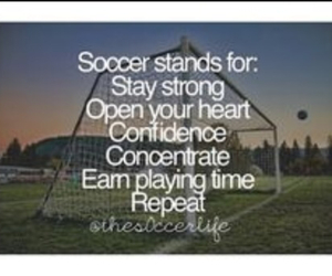 concentrate, soccer, and confidence image