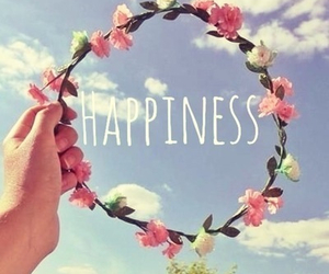 happiness, flowers, and sky image