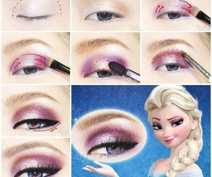 frozen, elsa, and makeup image