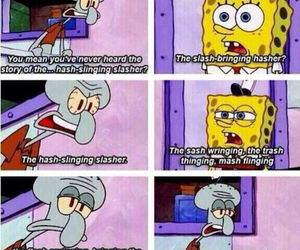 spongebob, squidward, and funny image