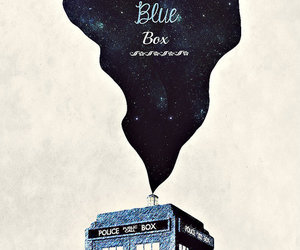 tardis, blue, and box image