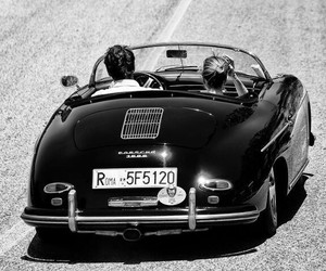 car, convertible, and couple image