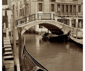 venice, travel, and bridge image