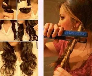 curly hair, diy, and hair image