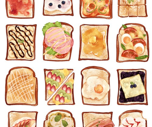 food, art, and bread image
